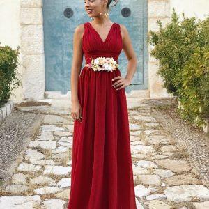 Vestido Selene granate – rojizo