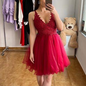 Vestido Adelina granate/rojizo